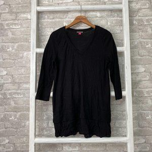 Vince Camuto Mixed Media Tunic Black Size Small